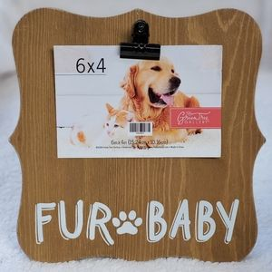 """Ornate Wood Clip 6x4 """"Fur Baby"""" Picture Frame"""